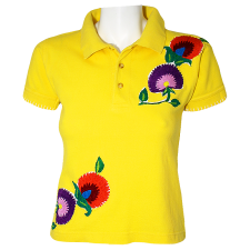 Lady Victoria Hervey Polo Shirt with Flower Embroidery