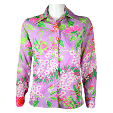 Lady Victoria Hervey Flower Print Long Sleeve Blouse
