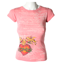 Lady Victoria Hervey T-Shirt with Heart & Patterned Print