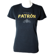 "Lady Victoria Hervey T-shirt with ""Tequila Patron"" Embroidery & Bee Print"