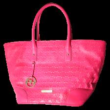Paris Hilton Autographed Pink Tote Bag