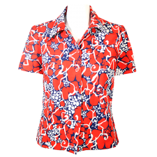 Lady Victoria Hervey Hawaiian Flower Casual Shirt