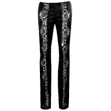 Lady Victoria Hervey Low Rise Pants with Lace Pattern