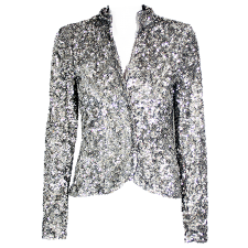 Vivica A. Fox Sequined  Sparkling Blazer with Silk Lining